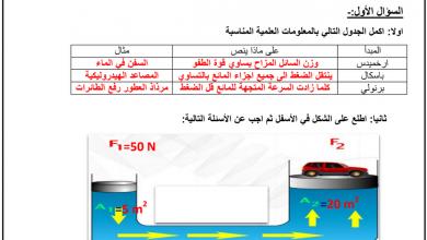 Photo of مراجعة درس خصائص الموائع علوم صف تاسع فصل ثاني