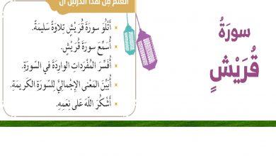 Photo of حل درس سورة قريش الصف الثاني اسلامية الفصل الثاني