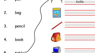 Photo of أوراق عمل في القراءة والكتابة لغة إنجليزية صف أول فصل أول