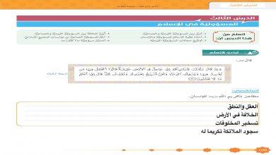 Photo of حل درس المسؤولية في الاسلام تربية إسلامية صف ثاني عشر فصل أول