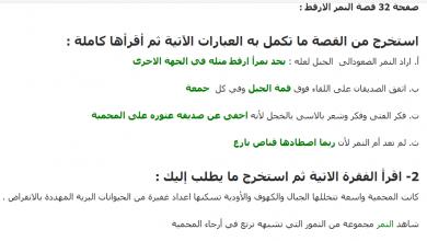 Photo of حل قصة النمر الارقط لغة عربية الصف الرابع الفصل الاول