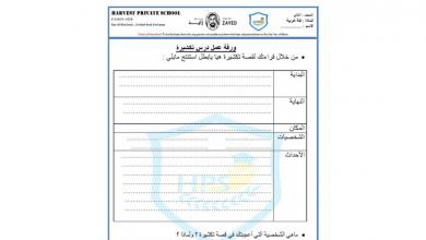 Photo of ورقة عمل ثانية درس تكشيرة لغة عربية صف ثاني فصل أول