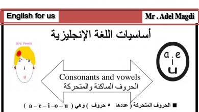 Photo of أساسيات القواعد لغة إنجليزية صف أول فصل أول