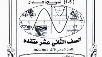 Photo of أوراق عمل تحويلات الدوال مع الحلول رياضيات صف ثاني عشر متقدم فصل أول