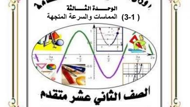 Photo of أوراق عمل المماسات والسرعة المتجهة مع الحلول رياضيات صف ثاني عشر متقدم فصل أول