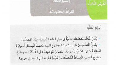 Photo of حل درس اكسبو 2020 لغة عربية الصف السادس الفصل الاول