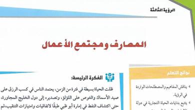 Photo of حل المصارف ومجتمع الأعمال دراسات اجتماعية صف حادي عشر فصل أول