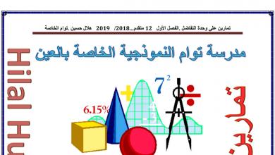 Photo of تمارين وتدريبات على الوحدة الثالثة التفاضل رياضيات صف ثاني عشر متقدم فصل أول