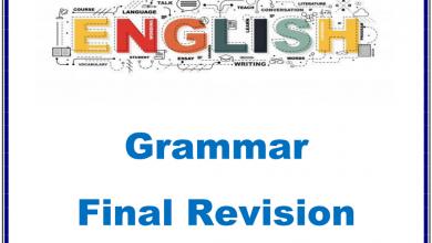 Photo of مراجعة هامة للقواعد لغة إنجليزية صف خامس فصل أول