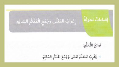 Photo of حل درس إعراب المثنى وجمع المذكر السالم لغة عربية صف سادس فصل ثاني