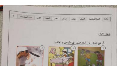 Photo of امتحان تربية إسلامية صف ثالث فصل أول 2019 – 2020