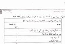 Photo of دليل تصحيح اختبار لغة عربية صف عاشر فصل أول 2019 – 2020