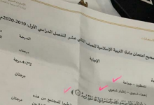 Photo of دليل تصحيح امتحان تربية إسلامية صف ثاني عشر فصل أول 2019 – 2020