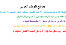 Photo of ملخص درس موقع الوطن العربي دراسات اجتماعية صف تاسع فصل أول