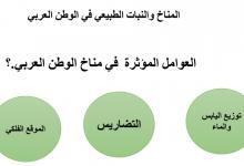 Photo of ملخص درس المناخ والنبات الطبيعي في الوطن العربي دراسات اجتماعية صف تاسع فصل أول