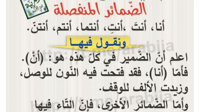 Photo of ورق عمل الضمائر المنفصلة لغة عربية صف رابع فصل ثاني