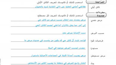 Photo of حل أنشطة الدرس الأول (الأمراض المعدية) أحياء صف حادي عشر متقدم فصل ثاني