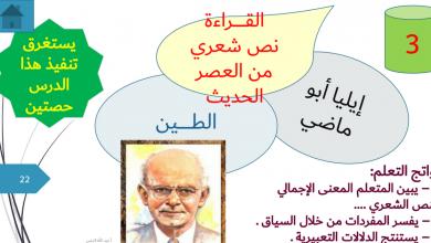 Photo of حل درس الطين لغة عربية صف حادي عشر فصل ثاني