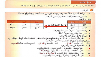 Photo of حل درس أحوال خبر جملة كان وأخواتها لغة عربية صف خامس فصل ثاني