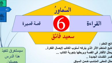 Photo of حل درس السماور لغة عربية ثاني عشر فصل ثاني