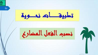 Photo of حل درس نصب الفعل المضارع تطبيقات نحوية لغة عربية ثاني عشر فصل ثاني