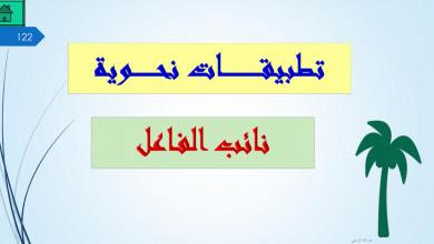 Photo of حل درس نائب الفاعل تطبيقات نحوية لغة عربية ثاني عشر فصل ثاني