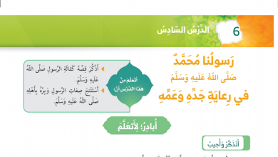 Photo of حل درس رسولنا محمد صلى الله عليه وسلم في رعاية جده وعمه تربية إسلامية الصف الاول