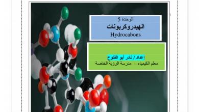 Photo of ملخص الدروس الثلاثة الأولى في وحدة الهيدروكربونات كيمياء صف ثاني عشر متقدم فصل ثاني