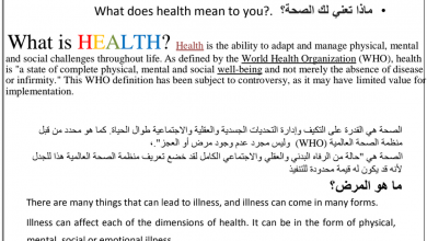 Photo of ملخص علوم صحية صف ثاني عشر فصل ثاني