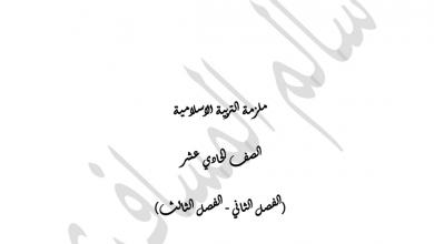 Photo of ملزمة تربية إسلامية للصف الحادي عشر فصل ثاني وثالث