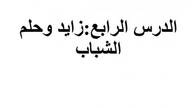 Photo of حل درس زايد وحلم الشباب دراسات اجتماعية صف ثامن فصل ثاني
