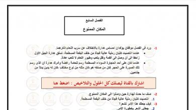 Photo of حل درس المكان الممنوع (الولد الذي عاش مع النعام)