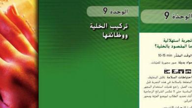 Photo of دليل المعلم الخلية ووظائفها أحياء صف تاسع متقدم فصل ثالث