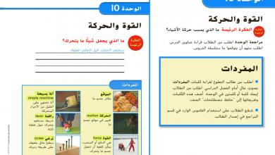 Photo of دليل المعلم وحدة القوة والحركة علوم صف ثالث فصل ثالث