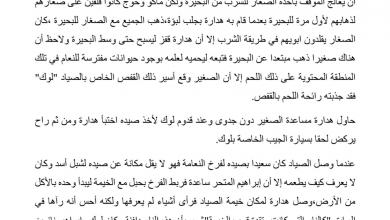 Photo of تلخيص الفصل الحادي والعشرين أسيرا رواية الولد الذي عاش مع النعام صف سابع