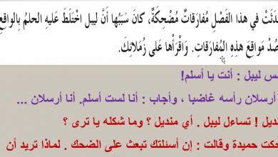Photo of حل الفصل الثالث عشر درس في المدرسة احلام ليبل السعيدة