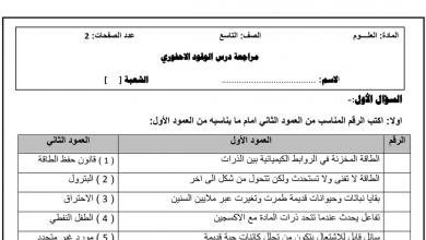 Photo of مراجعة درس الوقود الإحفوري مع الحل علوم صف تاسع فصل ثالث