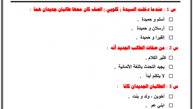 Photo of أوراق عمل الفصل السادس من رواية أحلام ليبل السعيدة لغة عربية صف سادس