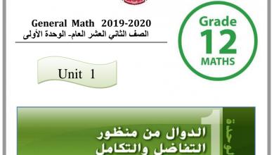 Photo of مذكرة الوحدة الأولى رياضيات صف ثاني عشر عام فصل أول