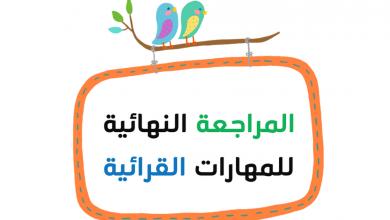 Photo of مراجعة نهائية للمهارات القرائية لغة عربية صف أول فصل أول
