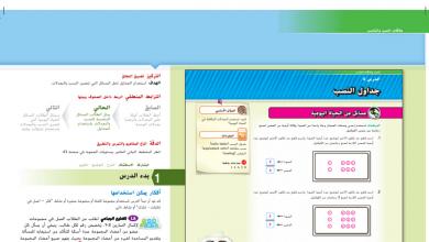 Photo of حل درس جداول النسب رياضيات صف سادس فصل أول