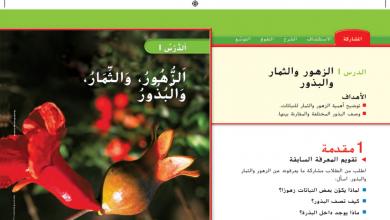 Photo of حل درس الزهور والثمار والبذور علوم صف أول فصل أول