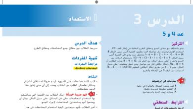 Photo of حل درس عد 4 أو 5 رياضيات صف أول فصل أول