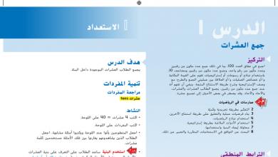 Photo of حل درس جمع العشرات رياضيات صف أول فصل أول