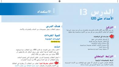 Photo of حل درس الأعداد حتى 120 رياضيات صف أول فصل أول
