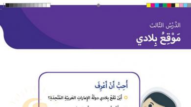 Photo of حل درس موقع بلادي دراسات اجتماعية صف ثاني فصل أول