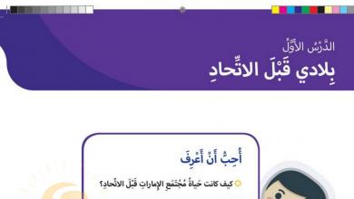 Photo of حل درس بلادي قبل الاتحاد دراسات اجتماعية صف ثاني فصل أول