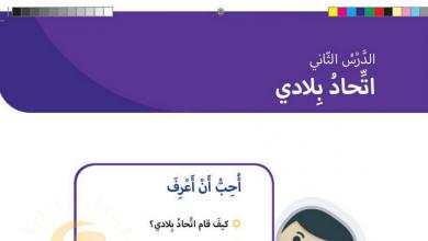 Photo of حل درس اتحاد بلادي دراسات اجتماعية صف ثاني فصل أول