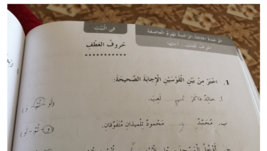 Photo of حل درس حروف العطف لغة عربية صف ثاني فصل أول
