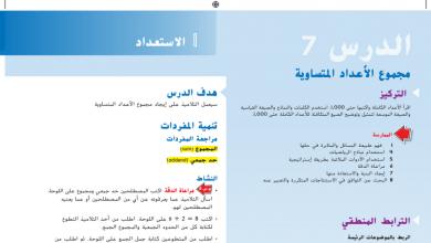 Photo of حل درس مجموعة الأعداد المتساوية رياضيات صف ثاني فصل أول